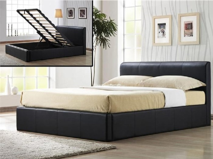 Stupendous 4Ft Small Double Ottoman Beds Faux Leather Frank Ottoman Beatyapartments Chair Design Images Beatyapartmentscom