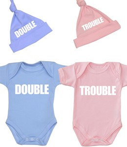 BabyPrem Baby Clothes CUTE UNCLE Funny Slogan Gifts Bodysuit Bib /& Hat Set