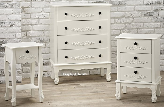 Antoinette Antique White French Style Bedroom Furniture