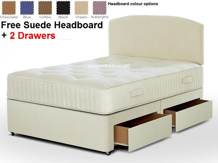 designer fashion 84307 e5f9d Apollo Single Pocket Sprung Divan Bed - FREE Headboard And 2 ...