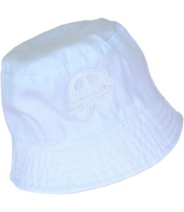 Baby Boys Blue Bucket Hat with car applique on the front. 6f1410d9b3ab
