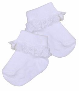 BabyPrem Preemie Baby Socks Girls Tiny White Pelerine Socks 5-7lbs