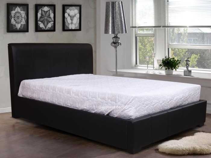 Awe Inspiring Black Leather Ottoman Bed With Deep Storage By Sleepland Gmtry Best Dining Table And Chair Ideas Images Gmtryco
