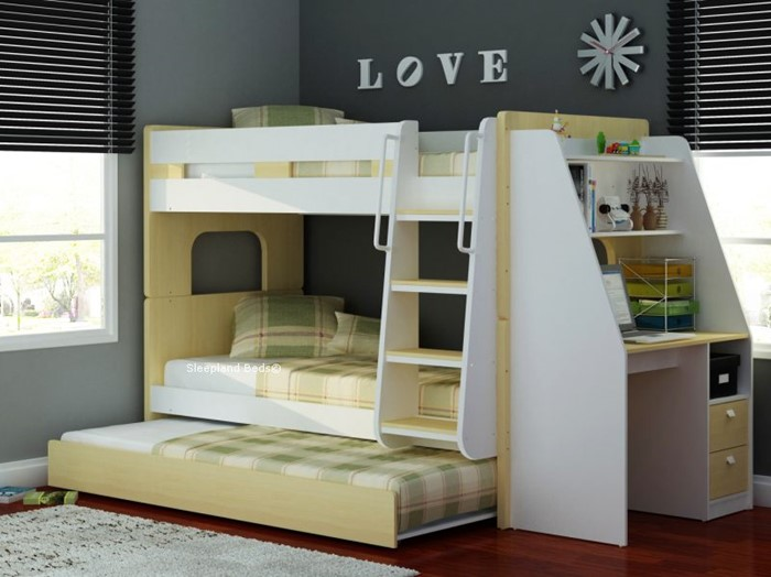 Bunk Beds With Desk Bunks With Workstation Desk At Sleepland Beds