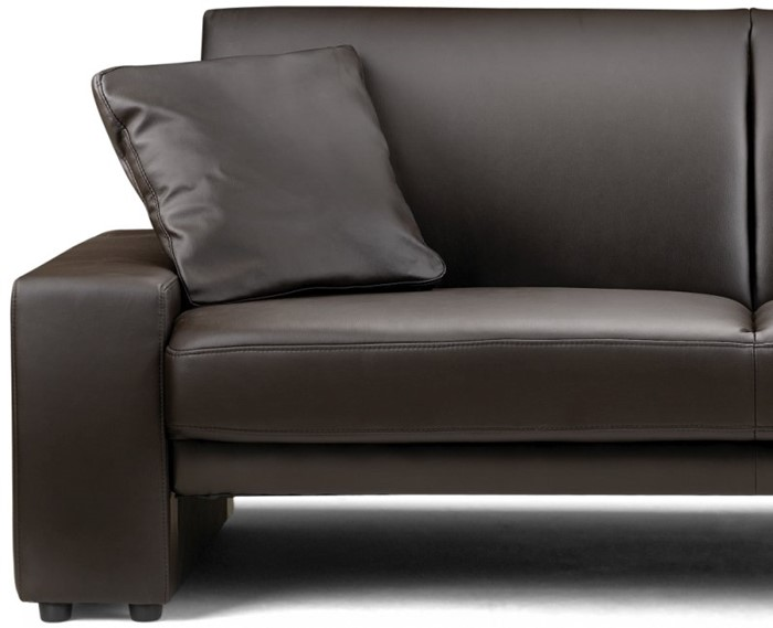 Sofa Bed Brown Or Black Faux Leather