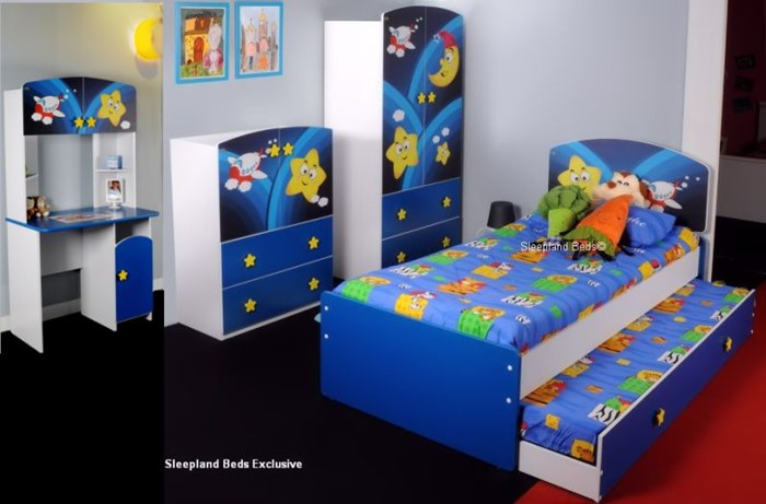 Childrens Bedroom Furniture Set Super Star Galaxy Guest Bed