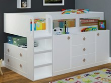 White Childrens Cabin Beds | TT Midi Sleeper By Sleepland Beds