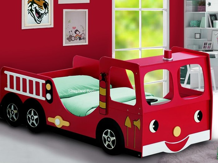 new products 08640 3b2e5 Fire Engine Bed - Childrens Single Novelty Fire Engine Bed