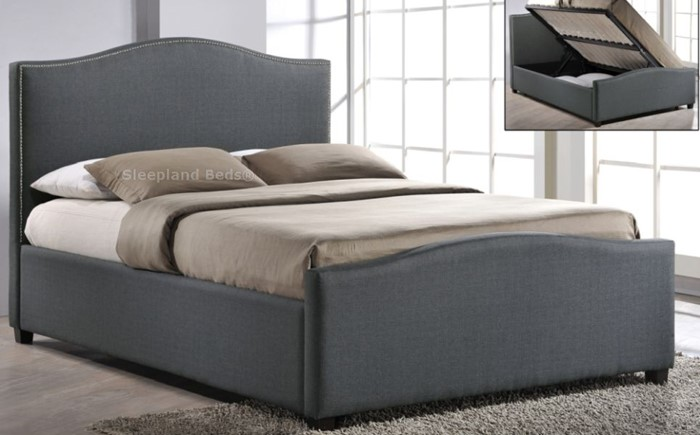 Miraculous Inspire Brunswick Side Opening Ottoman Bed Grey Fabric Pdpeps Interior Chair Design Pdpepsorg