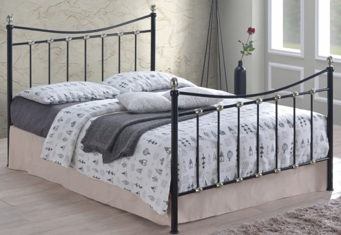 Admirable Oban Black Metal And Chrome Bed Frame Sleepland Beds Home Interior And Landscaping Ponolsignezvosmurscom