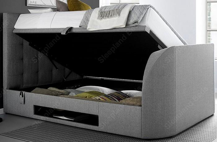 Marvelous Kaydian Barnard Tv Storage Bed Kingsize Sleepland Beds Forskolin Free Trial Chair Design Images Forskolin Free Trialorg