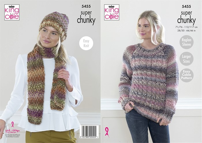 King Cole Ladies Chunky Knitting Pattern KC5455 NEW ...