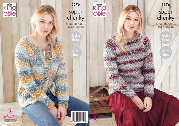 King Cole Ladies Knitting Patterns Super Chunky Yarn