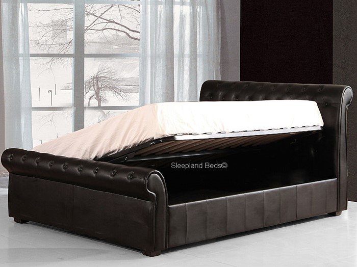 Awe Inspiring Luxury Black Chesterfield Ottoman Bed The Carrington 4Ft Machost Co Dining Chair Design Ideas Machostcouk