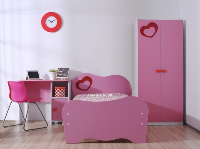 Pink Heart Childrens Bed And Furniture - Sleepland Beds