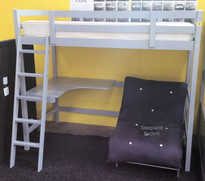 Study Bunk Bed With Desk And Futon