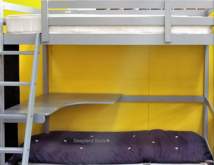 Pluto Study Bunk Bed With Desk And Futon Sleepland Beds