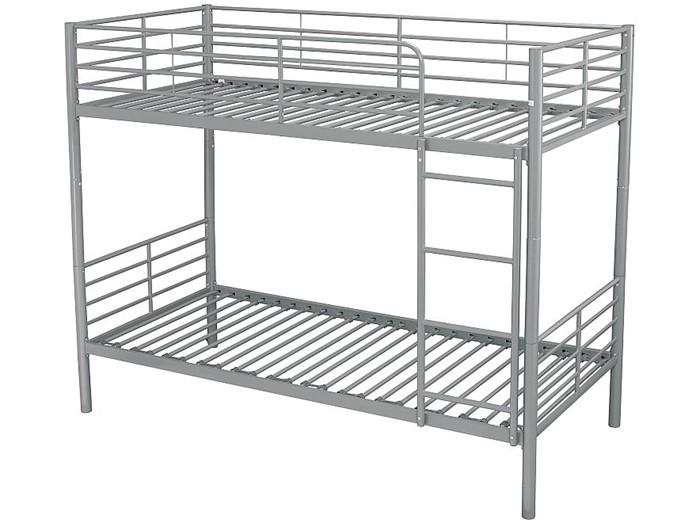 Silver Grey Metal Bunk Beds Modern Apollo Single Bunk Bed