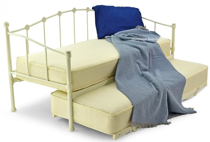 on sale 00dba 102a4 Small Single Ivory Metal Petal Day Bed - Daybed with Guest ...