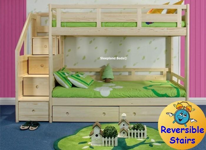 Luxury Solid Pine Bunk Bed Sleepland Beds