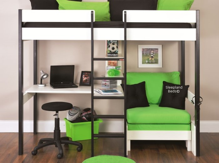 Excellent Stompa Uno 5 Nero Bed Black And White Highsleeper Desk Evergreenethics Interior Chair Design Evergreenethicsorg