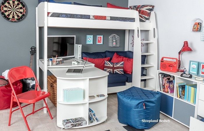 Prime Stompa Uno S22 Highsleeper With Fixed Desk And Pullout Desk Theyellowbook Wood Chair Design Ideas Theyellowbookinfo