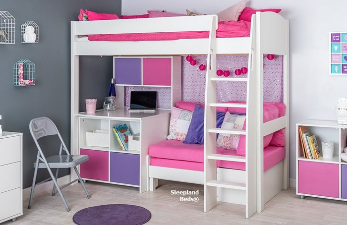 Astounding Stompa Uno S26 Highsleeper With Hutch Desk Cube And Pink Gamerscity Chair Design For Home Gamerscityorg