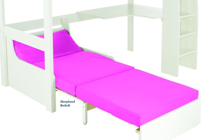 Peachy Stompa Uno S5 White Highsleeper Bed With Desk And Pink Sofabed Forskolin Free Trial Chair Design Images Forskolin Free Trialorg