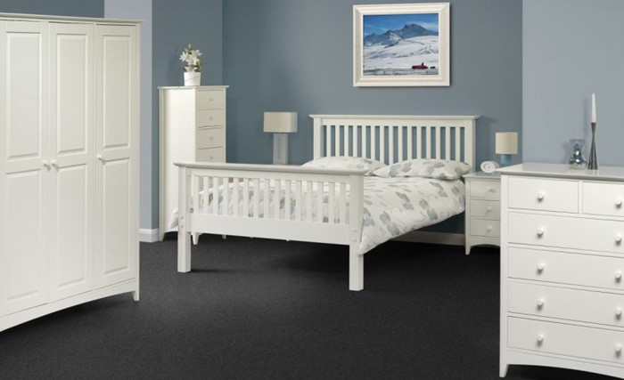 Sensational Stone White Cameo Bedroom Furniture By Julian Bowen Multi Home Interior And Landscaping Synyenasavecom