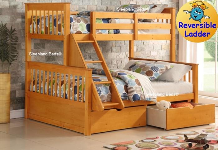 Supersonic Triple Bunk Bed Sleepland Beds