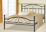 Black Metal Sussex Bed Frame With Low Footend 4ft Small Double Beds