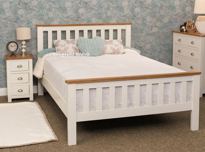 Outstanding Sweet Dreams Cooper Cream Wooden Bed Frame Sleepland Beds Camellatalisay Diy Chair Ideas Camellatalisaycom
