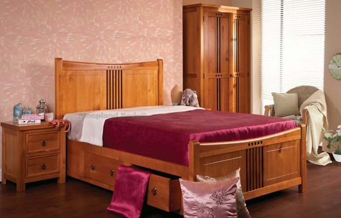 new product db6a5 02721 Sweet Dreams Curlew Pine Bedroom Furniture In Wild Cherry