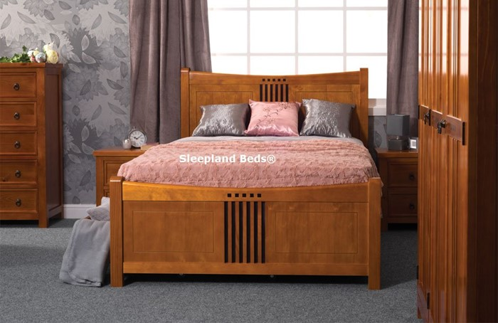 new product f94ac b4b5d Sweet Dreams Curlew Pine Bedroom Furniture In Wild Cherry