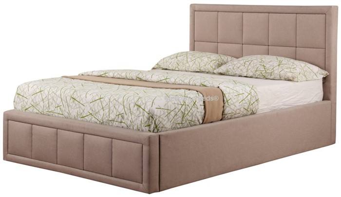 Prime Sweet Dreams Sia Ottoman Bed In Dark Tan Fabric 4Ft Small Bralicious Painted Fabric Chair Ideas Braliciousco