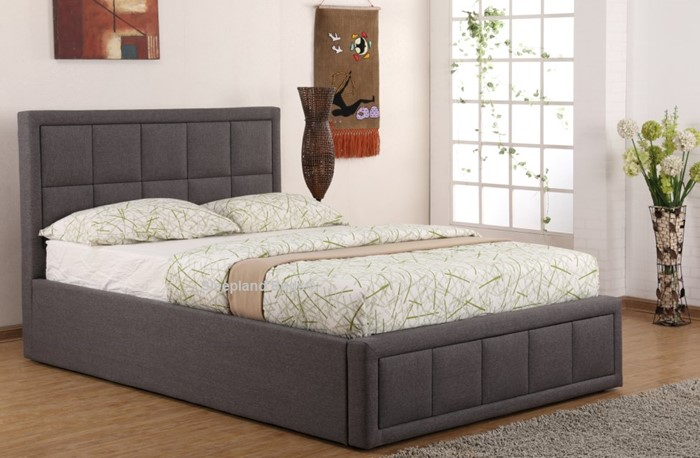 Fantastic Sweet Dreams Sia Ottoman Bed In Grey Fabric 4Ft Small Double Bralicious Painted Fabric Chair Ideas Braliciousco