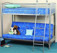 Sweet Dreams Troy Futon Bunk Highsleeper With Double Bed