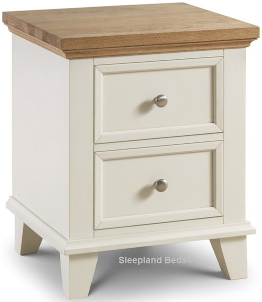 Two Tone White And Oak Bedroom Furniture | Sleepland Beds