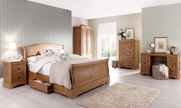 Vida Living Carmen Oak Bedroom Furniture Sleepland Beds