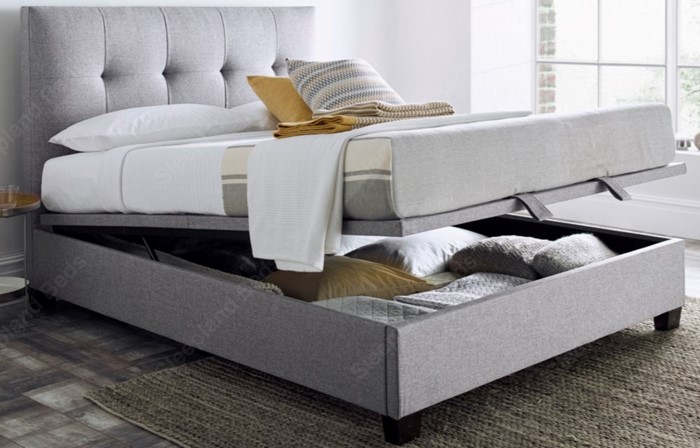Brilliant Walkworth Dark Grey Ottoman Storage Bed By Kaydian Super Theyellowbook Wood Chair Design Ideas Theyellowbookinfo
