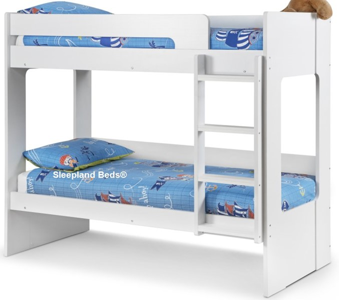 White Childrens Bunk Bed With Underbed Trundle Drawers Sleepland Beds