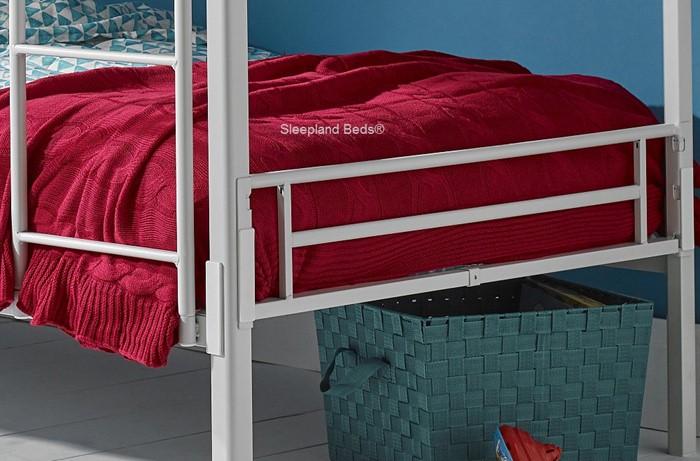 Wondrous White Metal Bunk Beds For Children And Teenagers Sleepland Inzonedesignstudio Interior Chair Design Inzonedesignstudiocom