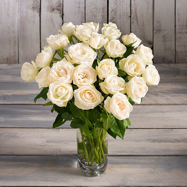 White rose bouquet morrisons flowerworld white rose bouquet mightylinksfo Image collections
