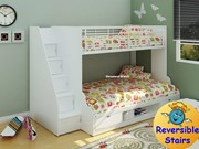 Modern Bunk Bed White Painted Bunk Beds