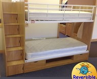 Bunk Beds Wooden Bunks With Stairs And Storage Sleepland Beds