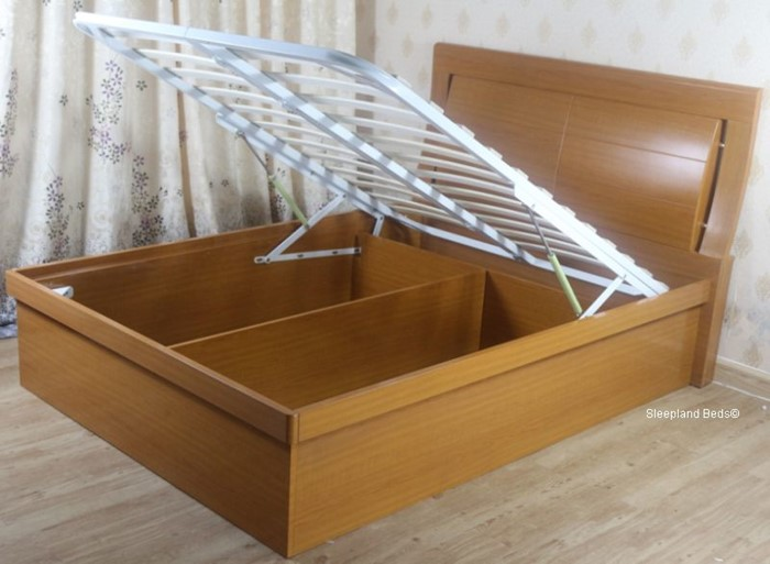 Brilliant Wooden Ottoman Storage Bed Meridian By Sleepland Beds Dailytribune Chair Design For Home Dailytribuneorg