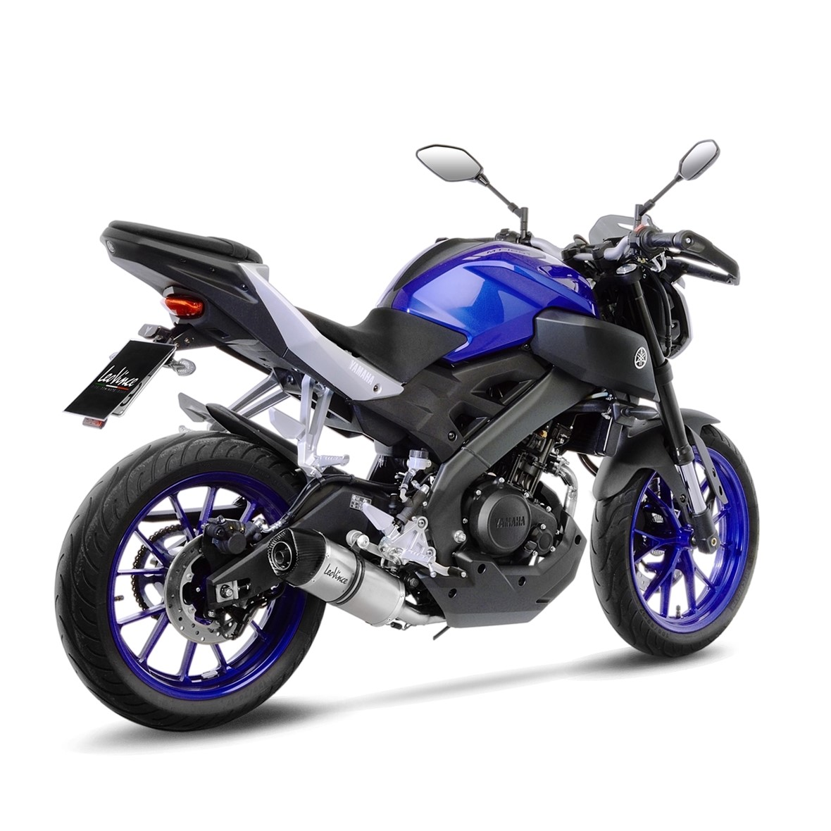 yamaha mt 125 yzf r125 leovince lv one evo exhaust system. Black Bedroom Furniture Sets. Home Design Ideas