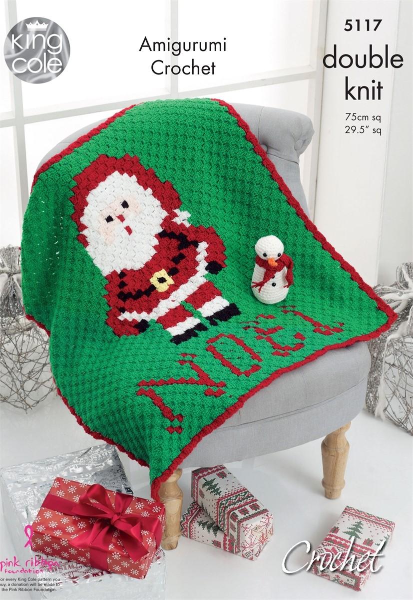 CLEARANCE: King Cole Crochet Noel Blanket KC5117 (WAS £2 85