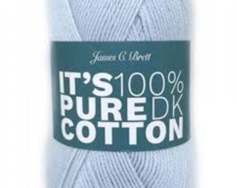 James Brett 100g DK balls IT/'S 100/% PURE COTTON WHITE